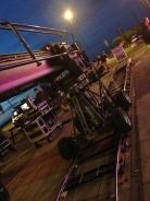 Crane on set of Vera